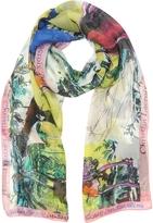 Christian Lacroix Defilé Printed Chiffon Silk Stole