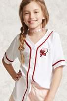 FOREVER 21 girls Girls Baseball T-Shirt (Kids)