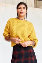 BDG Cable Cropped Pullover Sweater