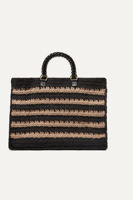 MEHRY MU Lucia Striped Knitted Tote - Black