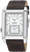 Esprit Men's Chronograph Brown Calfskin Stainless Steel Case Watch el101361f02