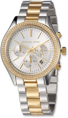 MICHAEL Michael Kors 42mm Slim Runway Glitz Bracelet Watch, Multi
