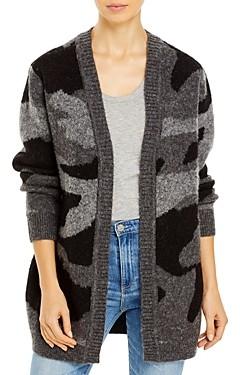 Aqua Camo Open Front Cardigan Sweater- 100% Exclusive