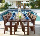 Pottery Barn Chatham Extra Large Rectangular Extending Dining Table & Chair Set - Dark Honey