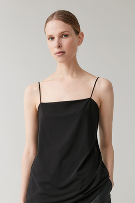 Cos Jersey Top With Narrow Straps