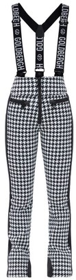 Goldbergh Lily Houndstooth-check Salopettes - Black White