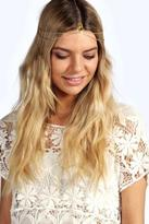 boohoo Womens Zoe Hair Crown in Gold size One Size