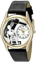 Whimsical Watches Women's C0610016 Classic Orthopedics Black Leather And tone Watch
