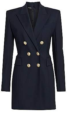 Balmain Women's Double-Breasted Stretch-Wool Jacket Dress