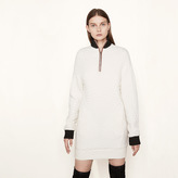 Maje Fleece dress with waffle effect