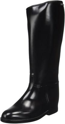 HKM Women's Riding Boots Short and Wide with Elastic Panel Womens Reitstiefel -Damen Kurz & Weit- mit Elastikeinsatz
