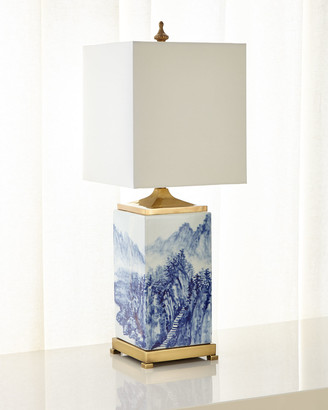 John-Richard Collection Porcelain Landscape Table Lamp