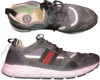 Gucci Ultrapace Grey Suede Trainers