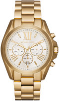 Michael Kors Women's Chronograph Bradshaw Gold-Tone Stainless Steel Bracelet Watch 43mm MK6266