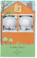 Angel Dear Cuddle Twins Blue Lamb Baby Blankies Gift Box