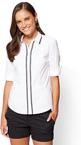 New York & Co. 7th Avenue - Madison Stretch Shirt - Lace Trim
