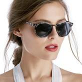 Sole Society Fargo Mid Size Exotic Print Sunglasses
