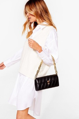 Nasty Gal Womens WANT Change My Mind Quilted Shoulder Bag - Black