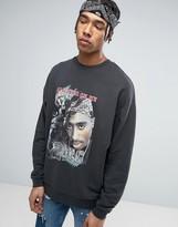 Asos Oversized Sweatshirt With Tupac Print