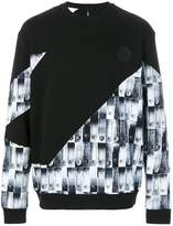 Versus safety pin print sweatshirt