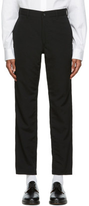 Comme des Garçons Homme Black Wool Gabardine Trousers
