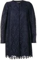 Emporio Armani macrame geometric patterned coat