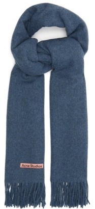 Acne Studios Canada New Fringed Wool Scarf - Light Blue