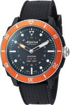 Alpina Men's 'Horological Smart' Quartz Stainless Steel and Rubber Sport Watch, Color: (Model: AL-282LBO4V6)