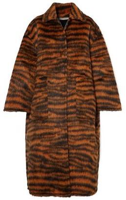 Bottega Veneta Oversized Tiger-print Llama-blend Coat