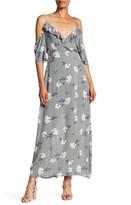 Romeo & Juliet Couture Surplice Neck Cold Shoulder Floral Dress