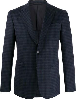 Ermenegildo Zegna slim-fit checked pattern blazer