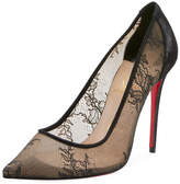 Christian Louboutin Lace 100mm Red Sole Pumps