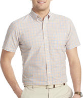 Izod Short-Sleeve Small Plaid Poplin Shirt