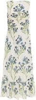 Thumbnail for your product : RED Valentino Pleated Floral-print Silk Midi Dress