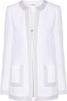 Edun Embroidered satin-crepe jacket