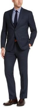 Van Heusen Men's Slim-Fit Blue Windowpane Suit