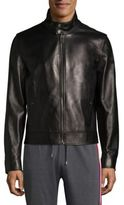 Bally Plain Leather Jacket