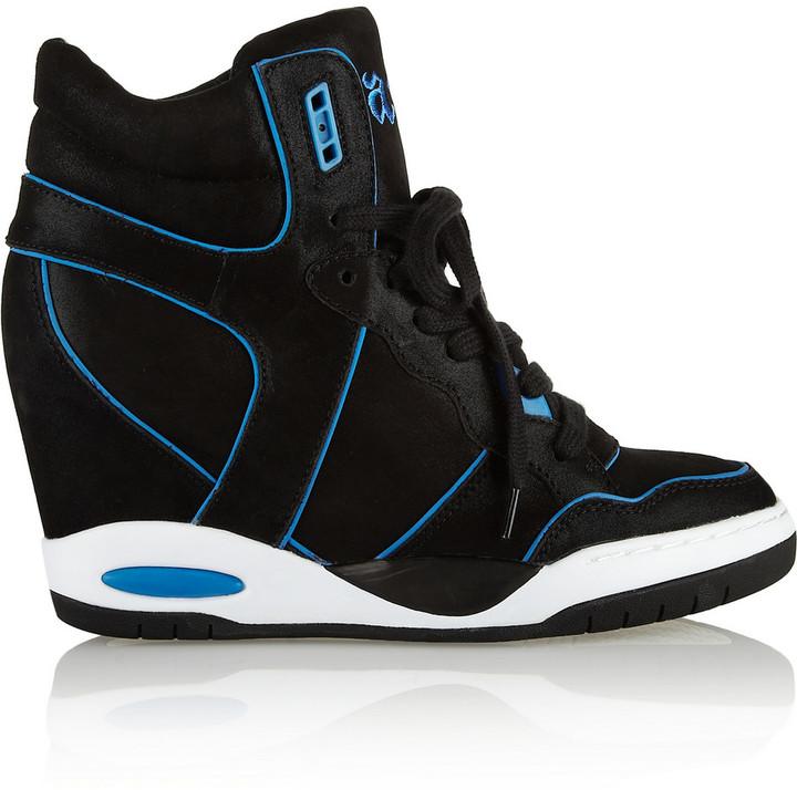 Ash Best coated suede wedge sneakers