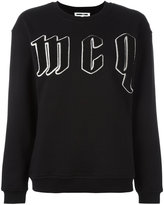 McQ by Alexander McQueen embroidered logo sweatshirt - women - Cotton - XS