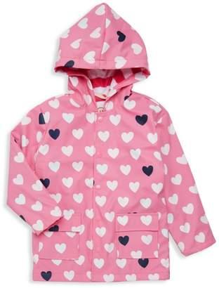 Hatley Little Girl's & Girl's Changing-Color Heart Raincoat