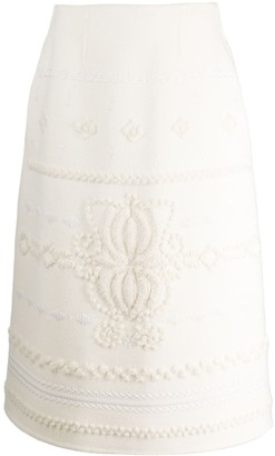 Ermanno Scervino Knitted Wool Skirt