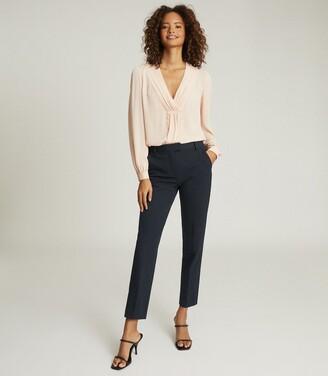 Reiss Joanne - Slim Fit Tailored Trousers in Navy
