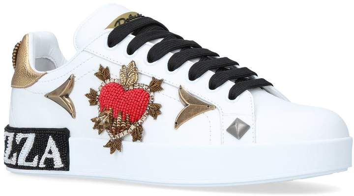Dolce & Gabbana Beaded Portofino Sneakers