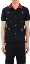 Gucci Men's Piqué-Knit Cotton Polo Shirt