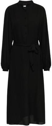 Equipment Francois Belted Washed-silk Midi Dress