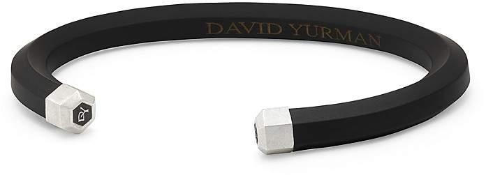 David Yurman Men's Hex Cuff Bracelet in Black