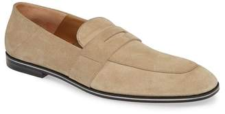 BOSS Safari Suede Penny Loafer