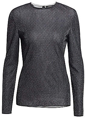 St. John Women's Diamond Sparkle Knit Long Sleeve Top
