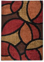 Aria Rugs Shagadelic Bloom Petal Rouge 5-Foot 3-Inch x 7-Foot 6-Inch Rug