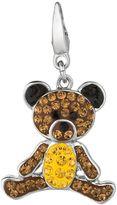Sterling Silver Crystal Teddy Bear Charm